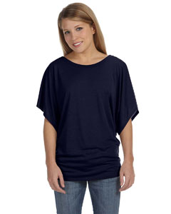 Midnight Ladies'  Flowy Draped Sleeve Dolman T-Shirt
