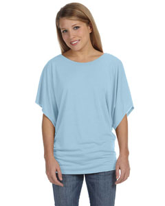 Blue Marble Ladies'  Flowy Draped Sleeve Dolman T-Shirt