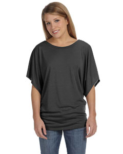 Charcoal Marble Ladies'  Flowy Draped Sleeve Dolman T-Shirt