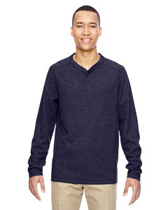 Navy 007 Men's Excursion Nomad Performance Waffle Henley