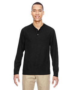 Black 703 Men's Excursion Nomad Performance Waffle Henley