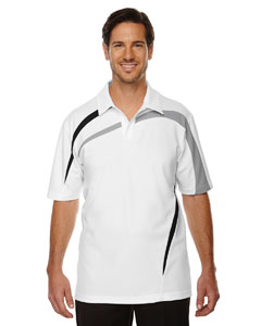 White 701 Men's Impact Performance Polyester Piqué Colorblock Polo