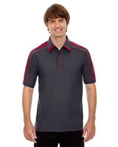 Bk Slk/sp Rd 441 Men's Sonic Performance Polyester Piqué Polo