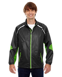 Blk/acid Grn 453 Men's Dynamo Three-Layer Lightweight Bonded Performance Hybrid Jacket