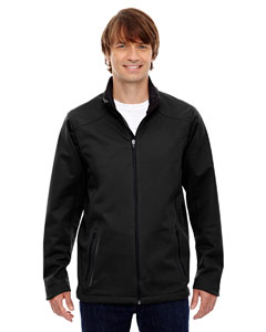 Black 703 Men's Splice Three-Layer Light Bonded Soft Shell Jacket with Laser Welding