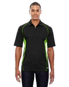 Blk/acid Grn 453 Men's Serac UTK cool.logik™ Performance Zippered Polo