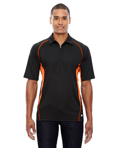 Black/ Mndrn 454 Men's Serac UTK cool.logik™ Performance Zippered Polo