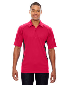 Olympic Red 665 Men's Serac UTK cool.logik™ Performance Zippered Polo