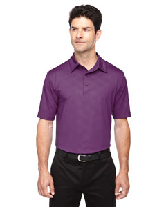 Mulbry Purpl 449 Men's Maze Performance Stretch Embossed Print Polo