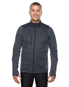 Carbon 456 Men's Pulse Textured Bonded Fleece Jacket with Print