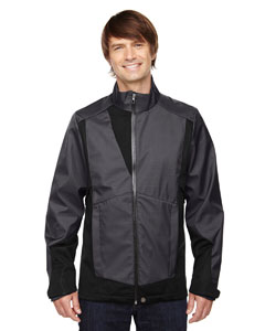 Carbon 456 Men's Commute Three-Layer Light Bonded Two-Tone Soft Shell Jacket with Heat Reflect Technology