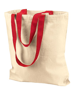 Natural/red Marianne Cotton Canvas Tote