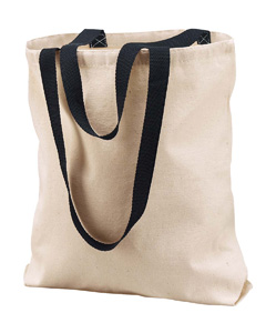 Natural/black Marianne Cotton Canvas Tote