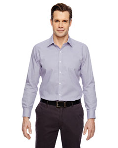 Royal Purpl 475 Men's Precise Wrinkle-Free Two-Ply 80's Cotton Dobby Taped Shirt