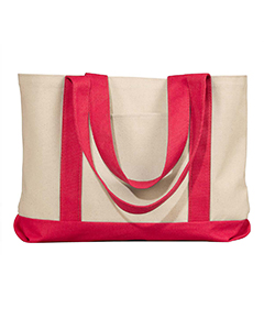 Natural/red Leeward Canvas Tote