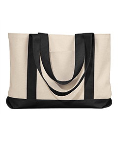 Natural/black Leeward Canvas Tote