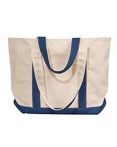 Natural/navy Winward Canvas Tote