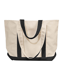 Natural/black Winward Canvas Tote