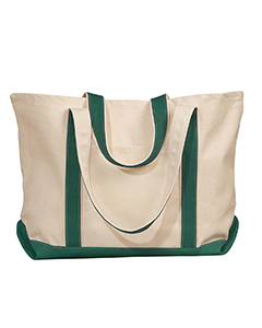 Natural/forest Carmel Canvas Tote
