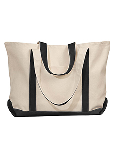 Natural/black Carmel Canvas Tote