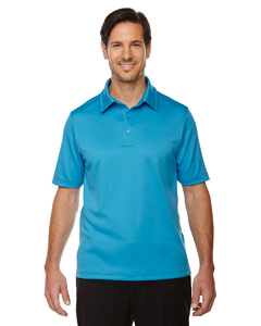 Elect Blue 485 Men's Exhilarate Coffee Charcoal Performance Polo with Back Pocket