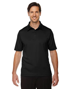 Black 703 Men's Exhilarate Coffee Charcoal Performance Polo with Back Pocket