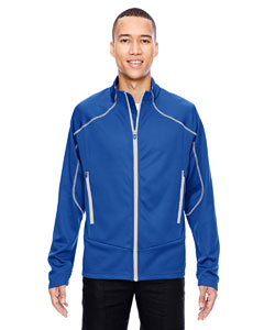 Nauticl Blu 413 Men's Interactive Cadence Two-Tone Brush Back Jacket