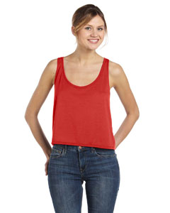 Red Women's Flowy Boxy Tank
