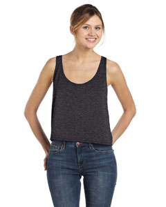 Dark Grey Heather Women's Flowy Boxy Tank