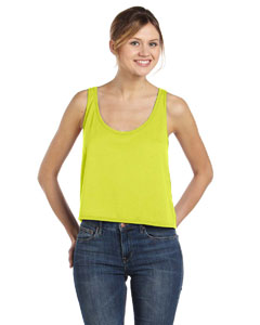 Neon Yellow Women's Flowy Boxy Tank
