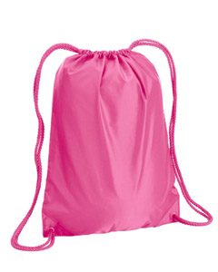 Hot Pink Boston Drawstring Backpack