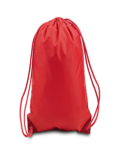 Red Boston Drawstring Backpack
