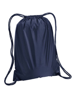 Navy Boston Drawstring Backpack