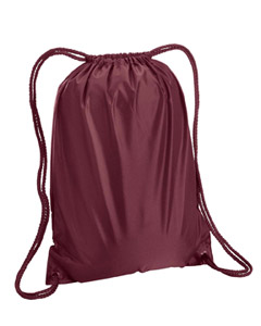 Maroon Boston Drawstring Backpack