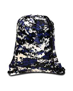 Digital Camo Roy Boston Drawstring Backpack