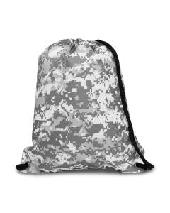 Digital Camo Boston Drawstring Backpack