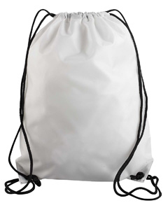 White Value Drawstring Backpack