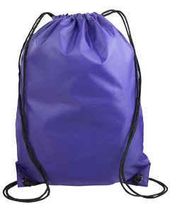 Purple Value Drawstring Backpack