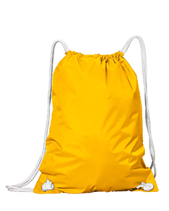 Bright Yellow White Drawstring Backpack