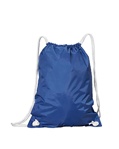 Royal White Drawstring Backpack