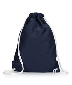 Navy Jersey Mesh Drawstring Backpack