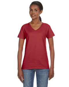 Independence Red Ladies' Lightweight V-Neck T-Shirt