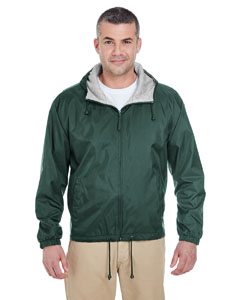 Forest Green Adult Fleece-Lined Hooded Jacket