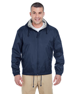 Navy Adult Fleece-Lined Hooded Jacket