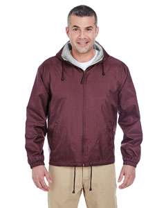 Burgundy Adult Fleece-Lined Hooded Jacket
