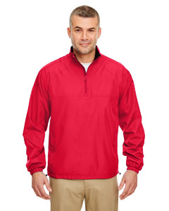 Red Adult Micro-Poly 1/4-Zip Windshirt