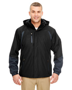 Black/ Slate Adult Color Block 3-in-1 Systems Hooded Jacket