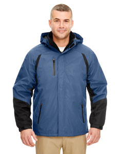 Blue/ Black Adult Color Block 3-in-1 Systems Hooded Jacket