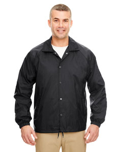 Black Adult Nylon Coaches' Jacket