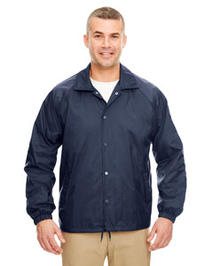 Navy Adult Nylon Coaches' Jacket